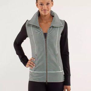 Lululemon Daily Yoga Classic Stripe Mint Jacket